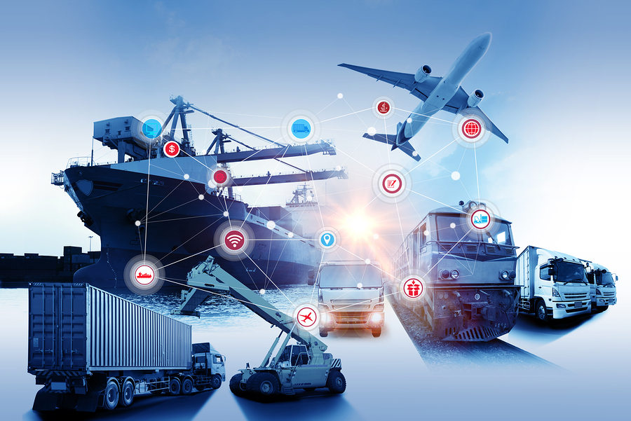 Global Business Of Container Cargo Freight Train For Business Logistics Concept, Air Cargo Trucking,: Global business of Container Cargo freight train for Business logistics concept Air cargo trucking Rail transportation and maritime shipping Logistics business concept distribution delivery service shipping logistic transport